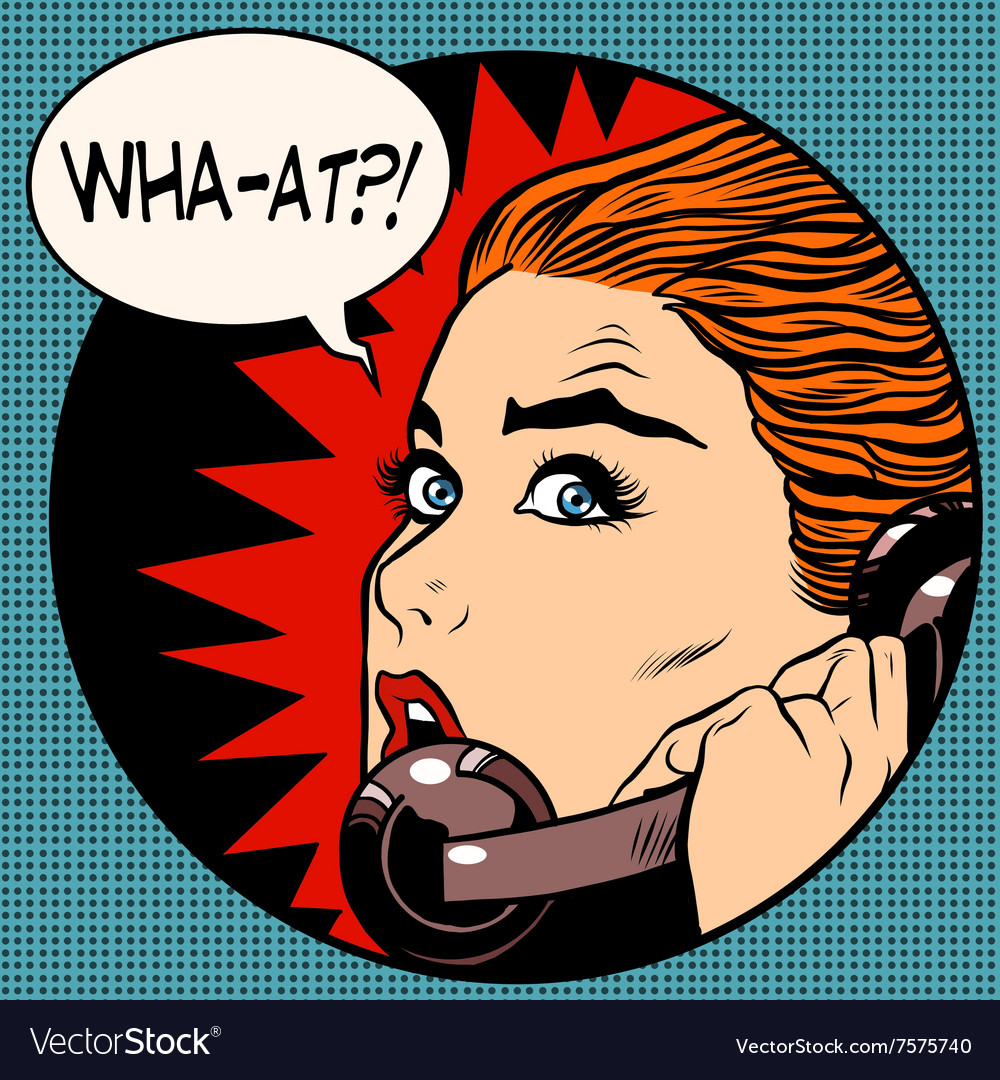 What a woman speaks on the phone vector