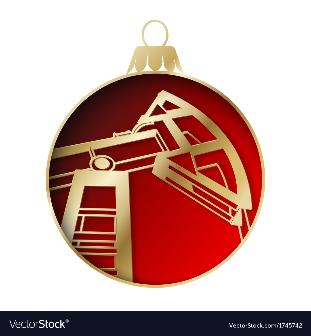 Oil industry christmas design vector