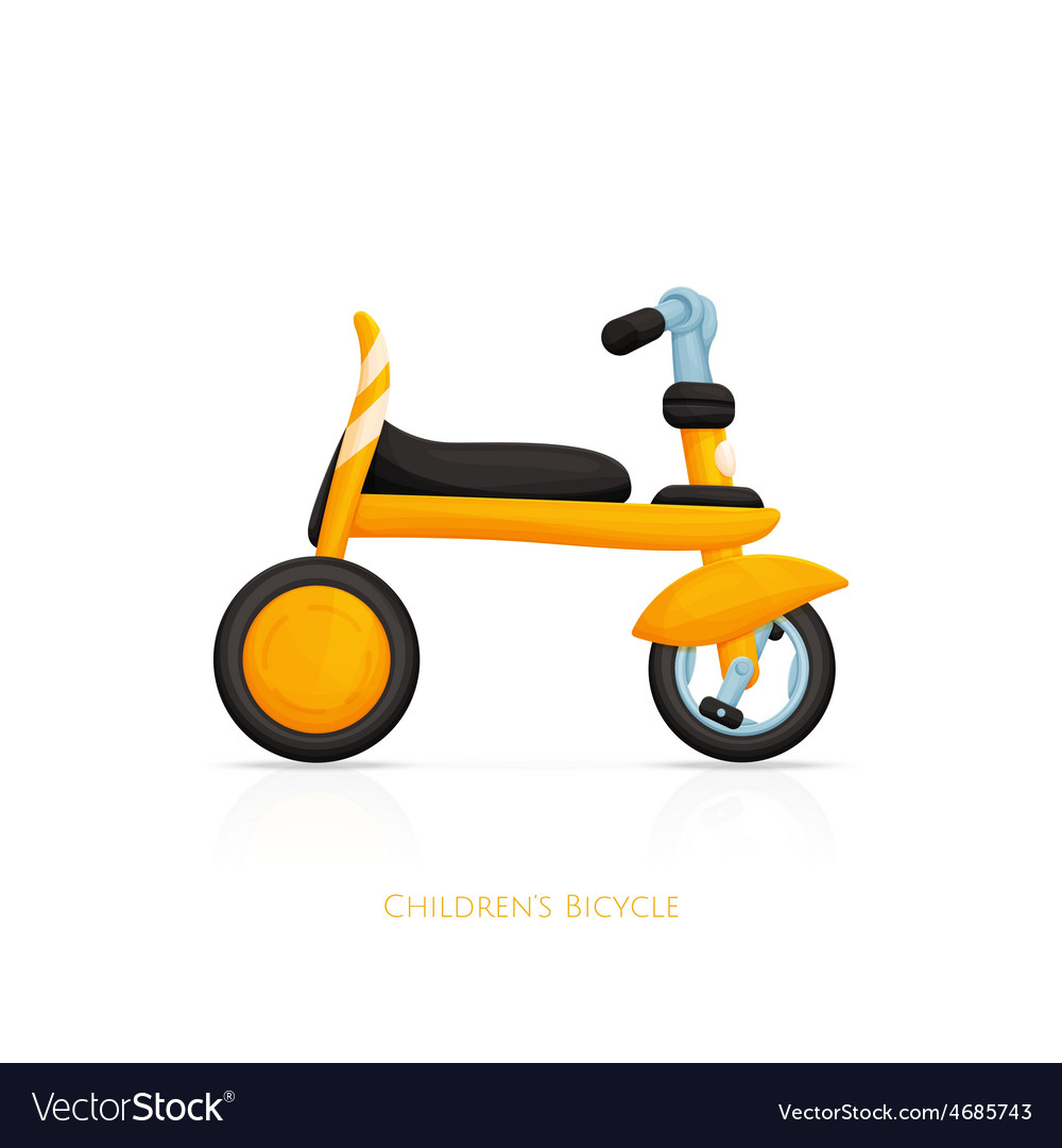 Childrens bicycle one vector