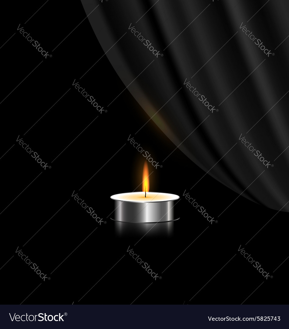 Dark and small candle vector