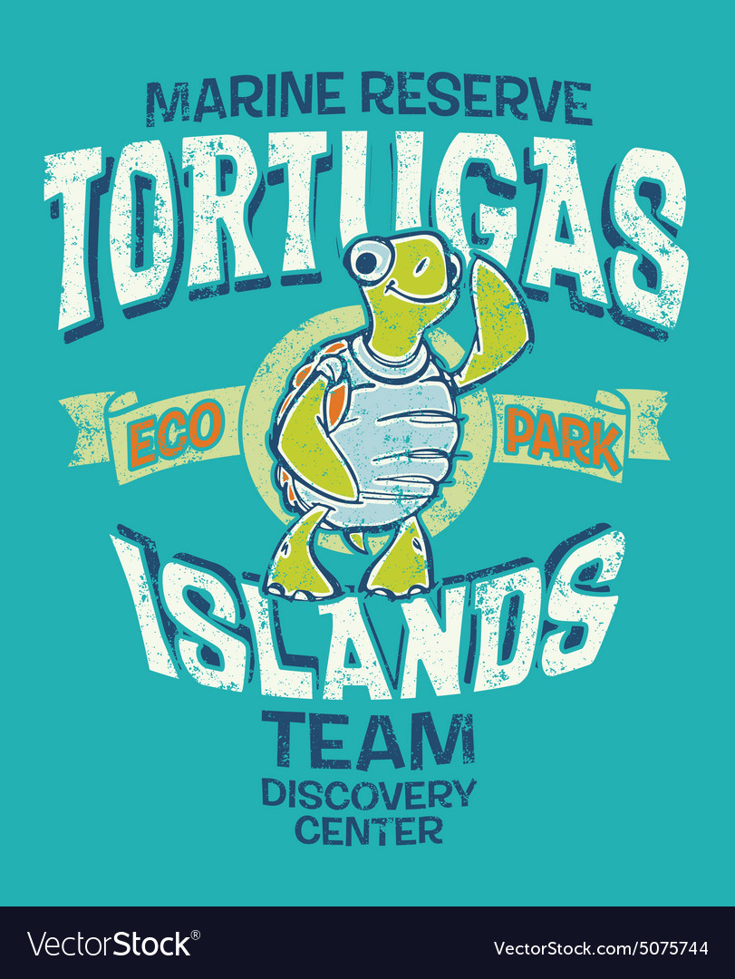 Tortugas islands marine reserve vector