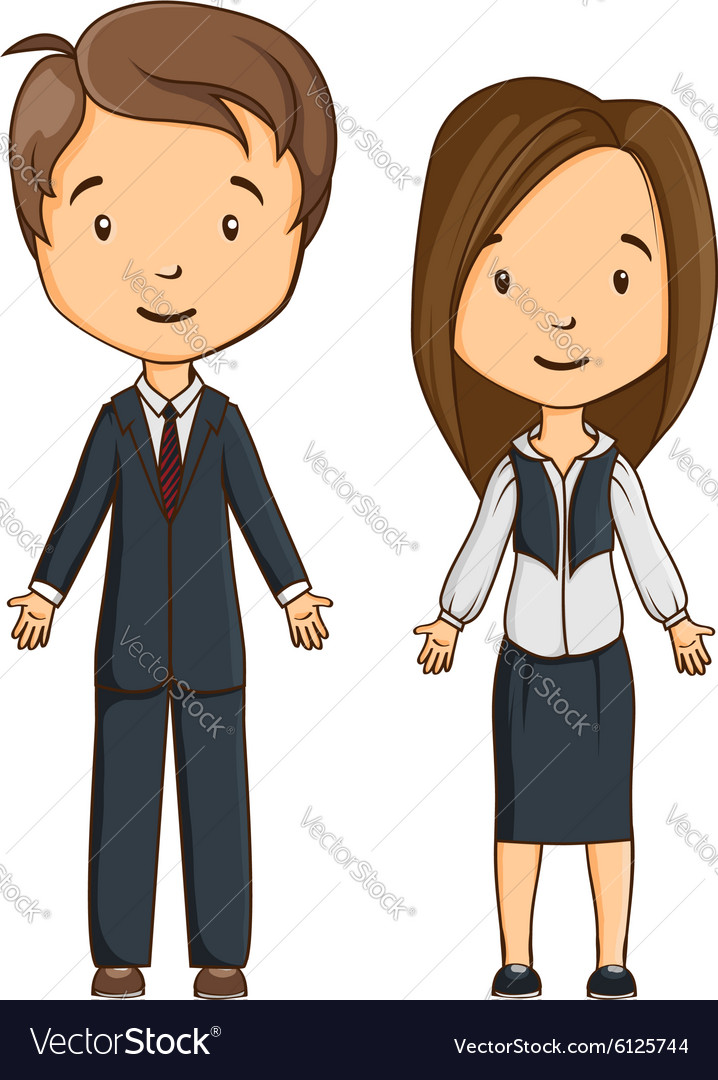Two cartoon style managers vector