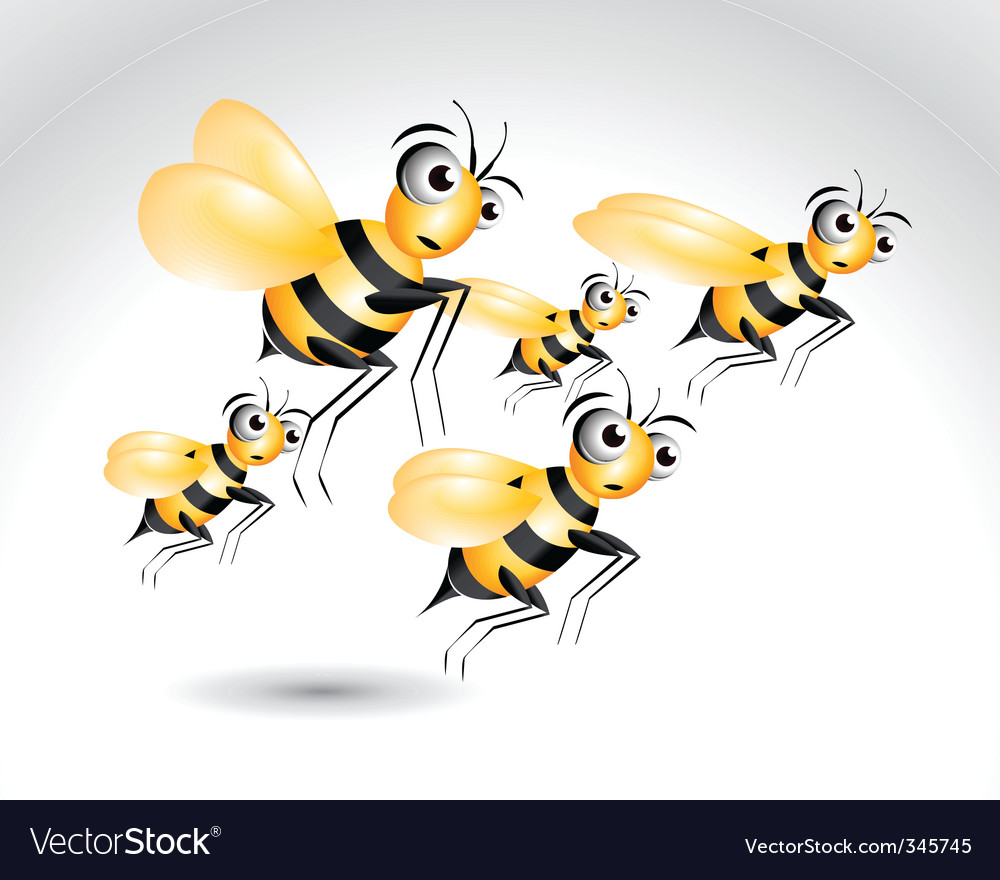 Cartoon bee vector