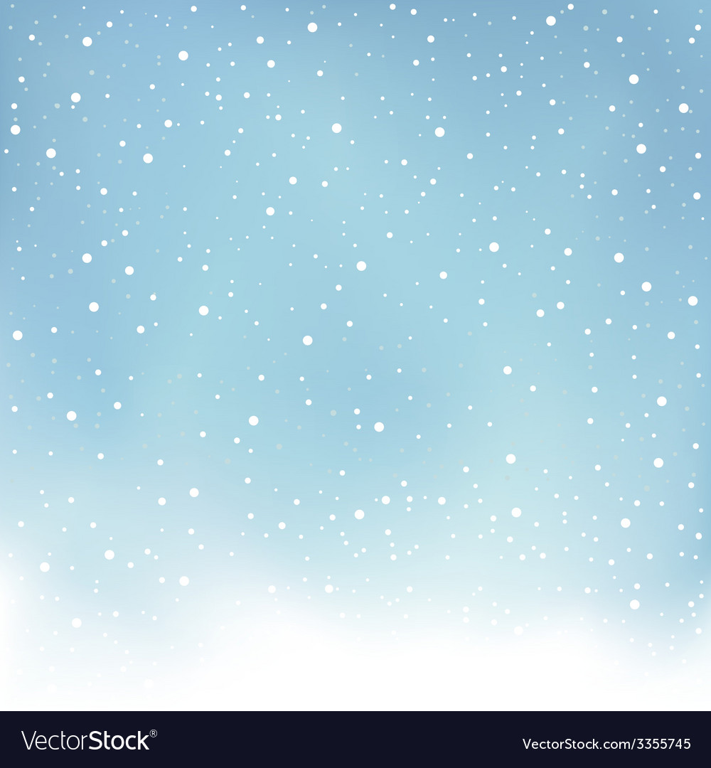 Winter snowfall blue background vector