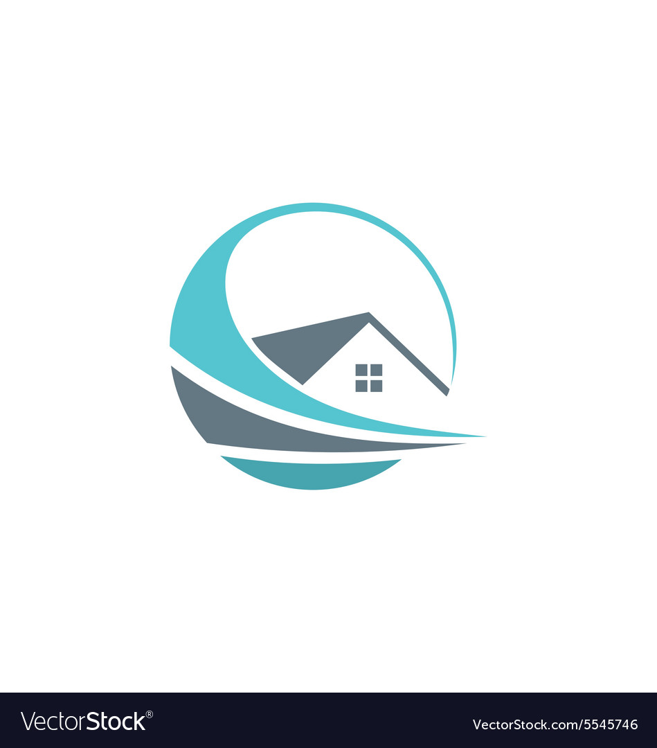 House abstract realty property logo vector