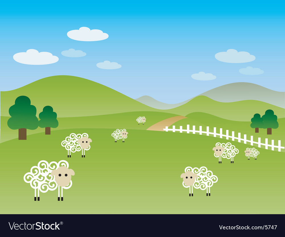 Fields landscape vector