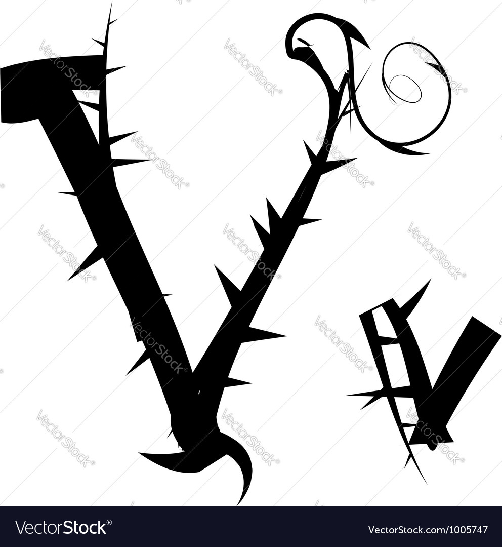 Spiked creeping alphabet vector