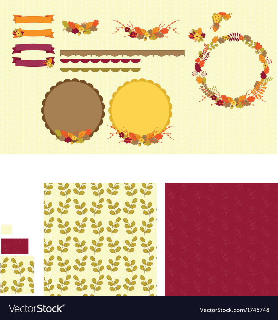 Flower clipart set vector