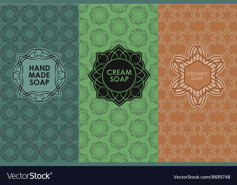 Set of templates packaging vector