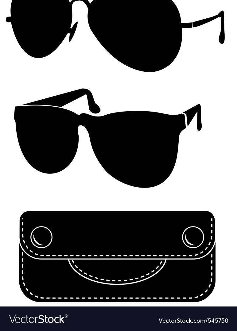Classical sunglasses vector