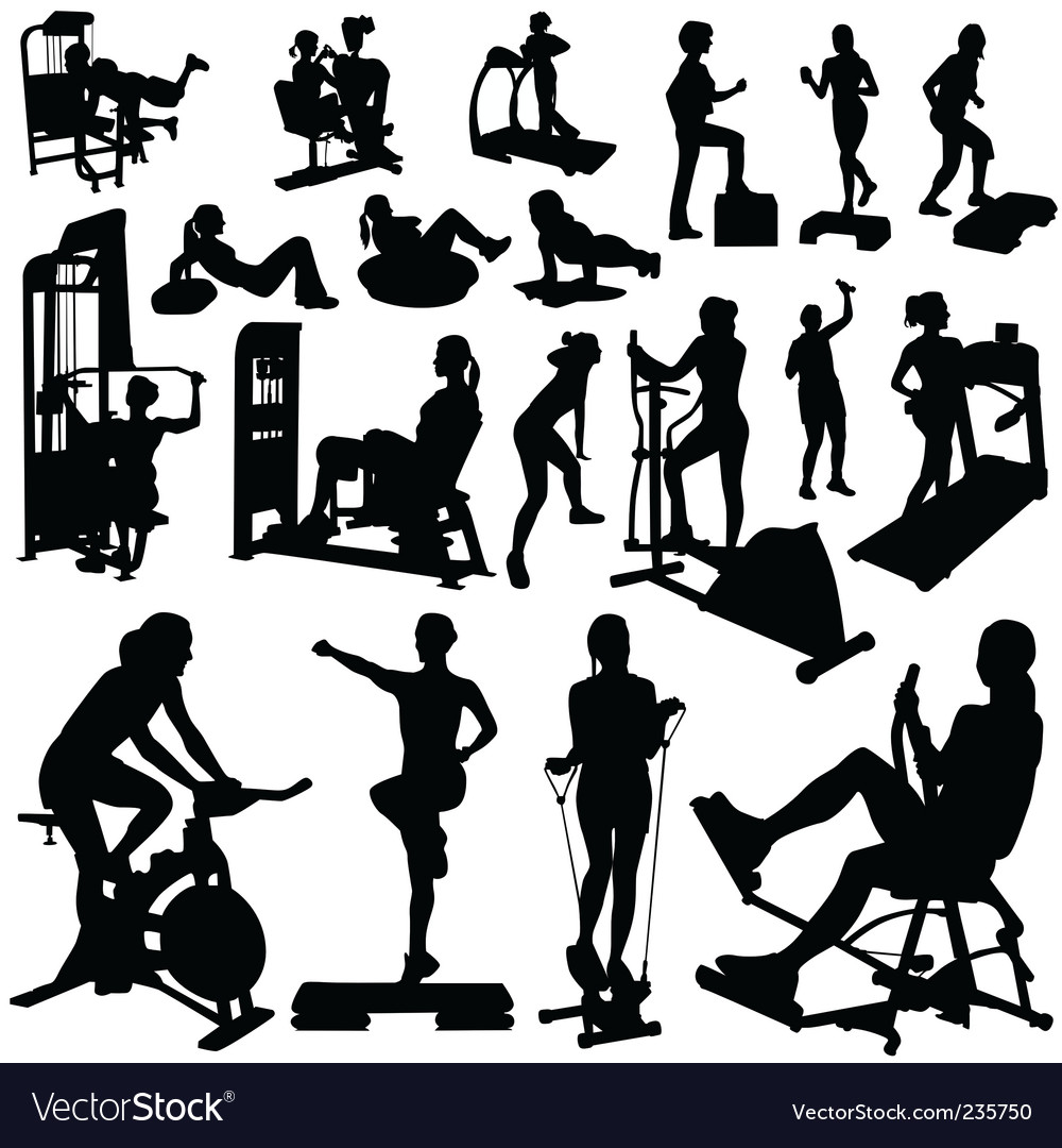Fitness women vector