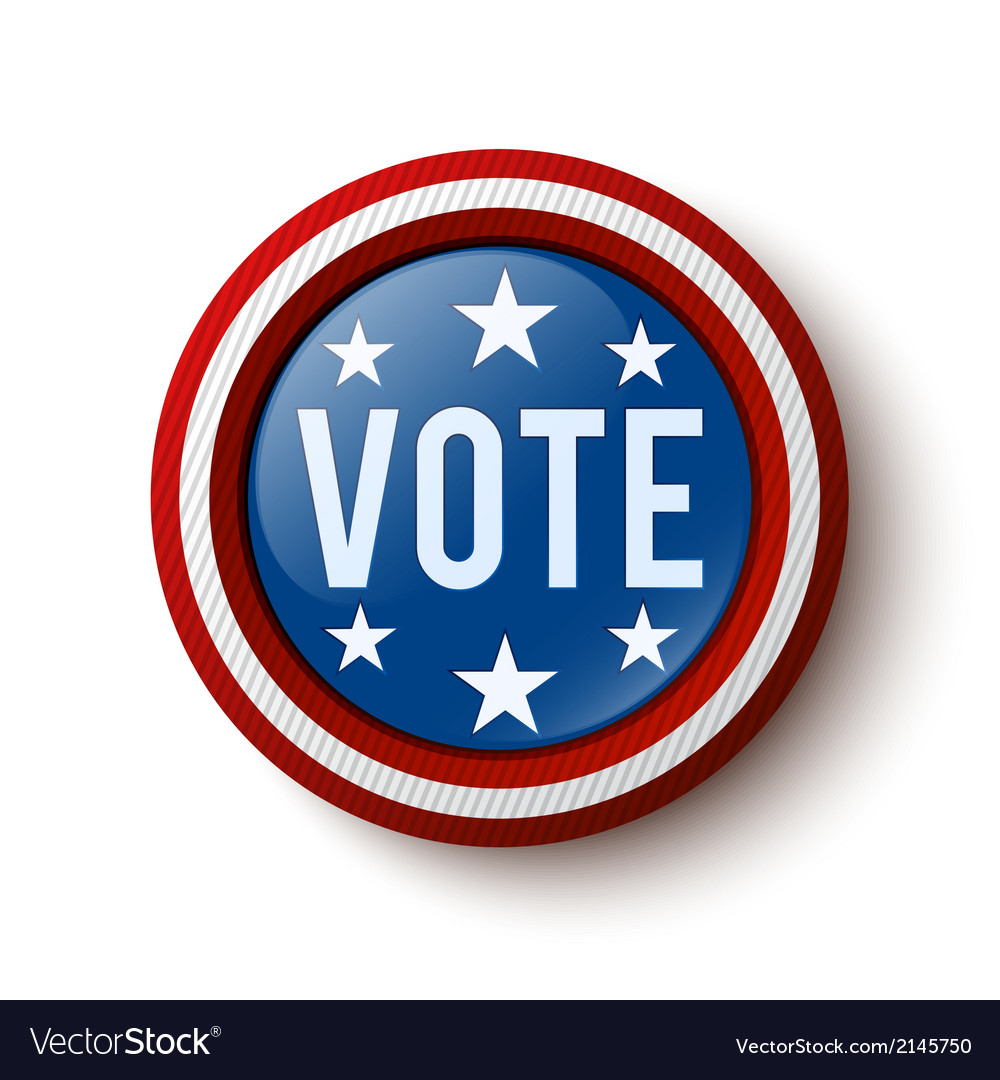 Vote button vector