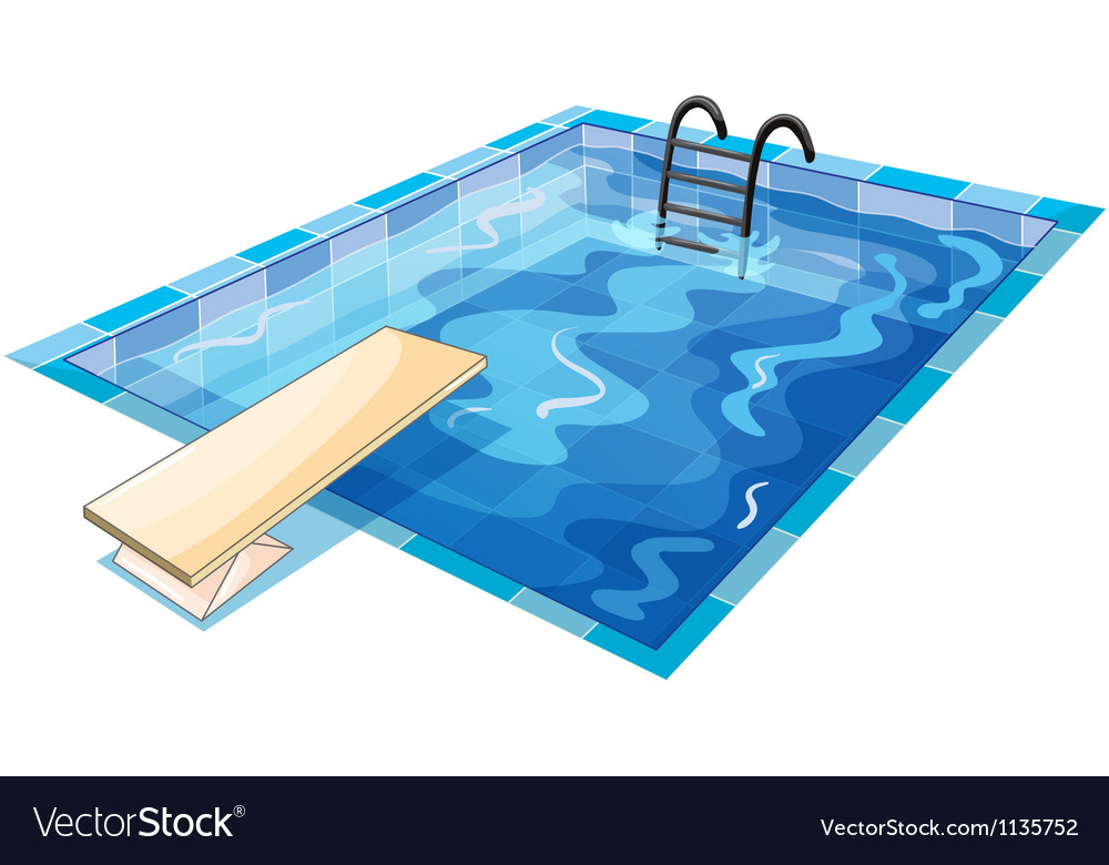 A swiming pool vector