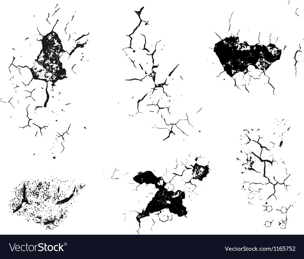 Crack decay texture vector