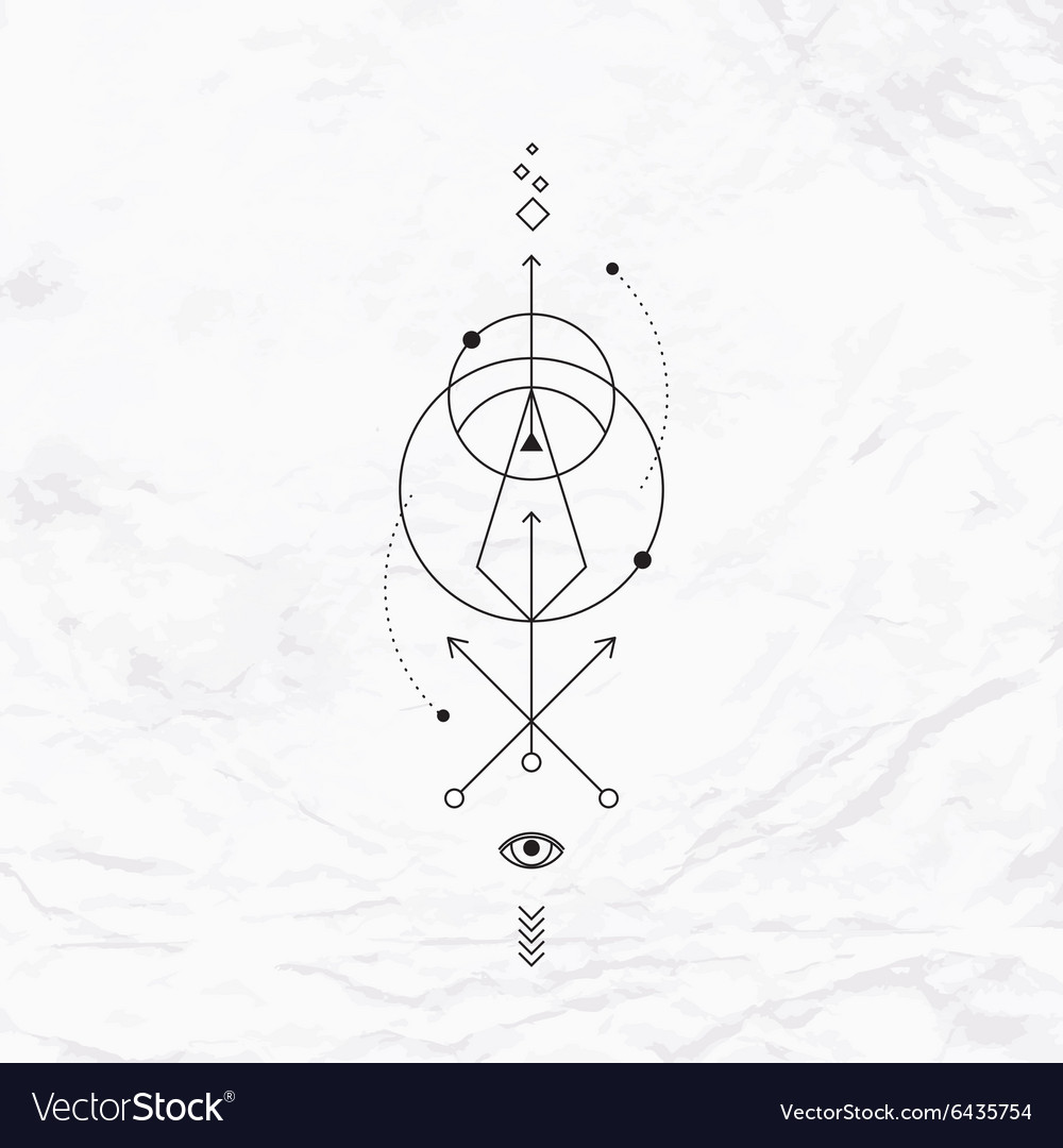 Geometric abstract mystic symbol vector