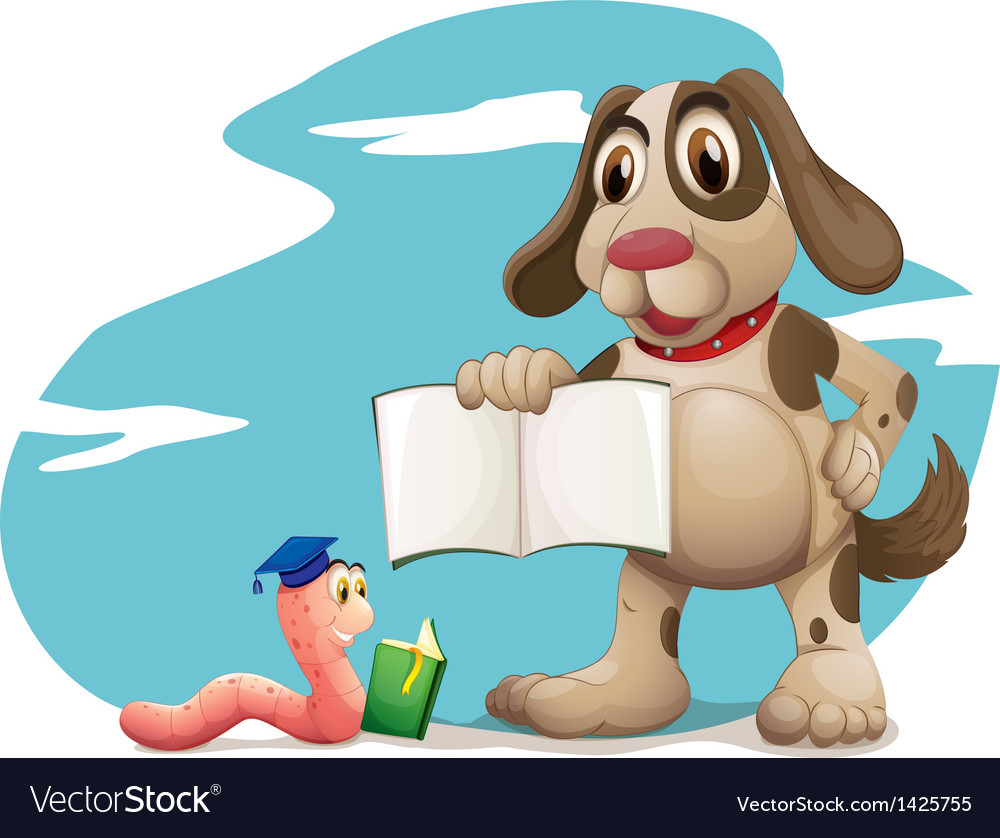 Animals reading books vector