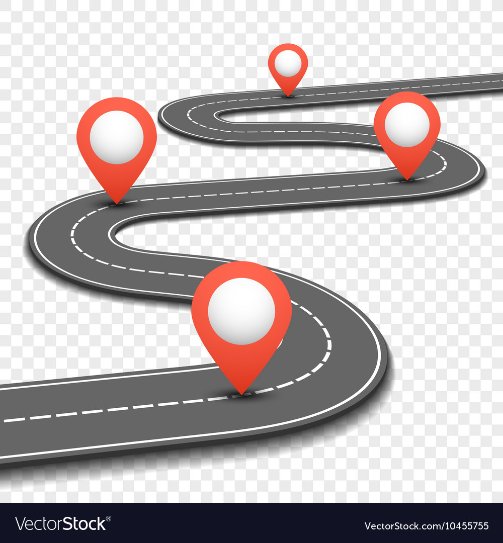Car road street highway business roadmap vector