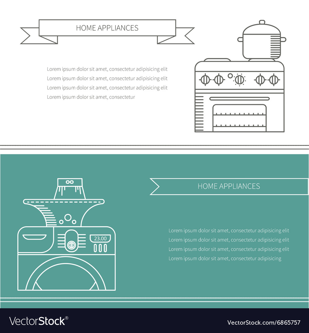 Banner appliances vector