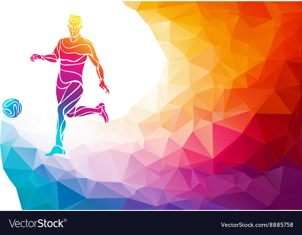 Creative silhouette of soccer player football vector