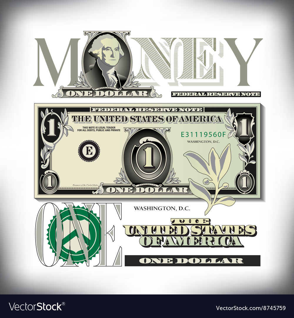 Money 1 one fade bg vector