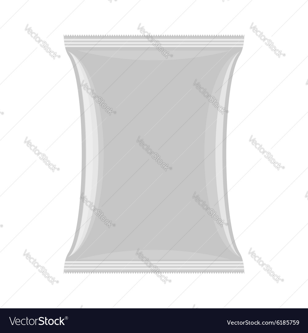 Packaging for chips and snacks empty pack template vector
