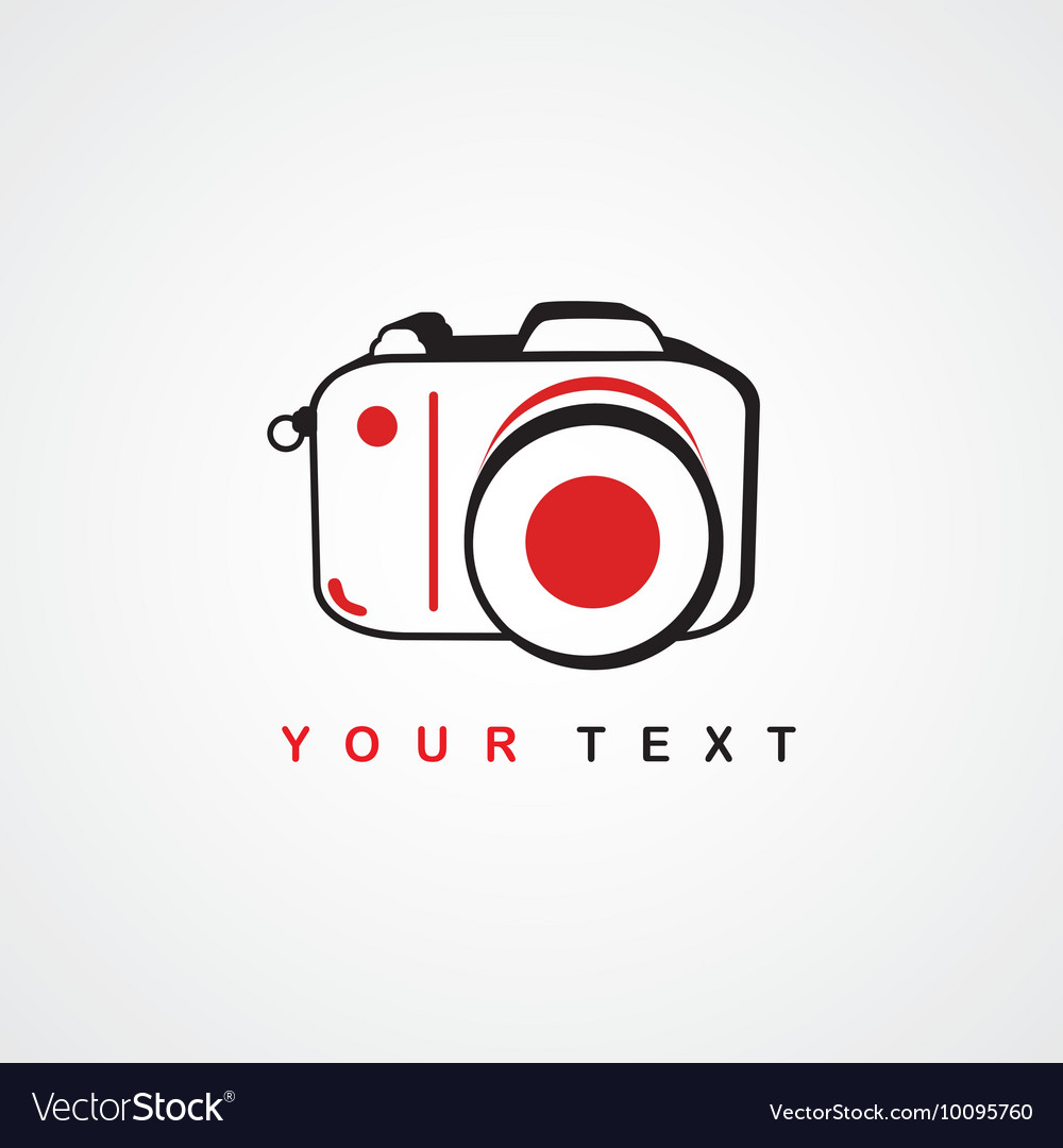 Photography logo camera theme logotype vector