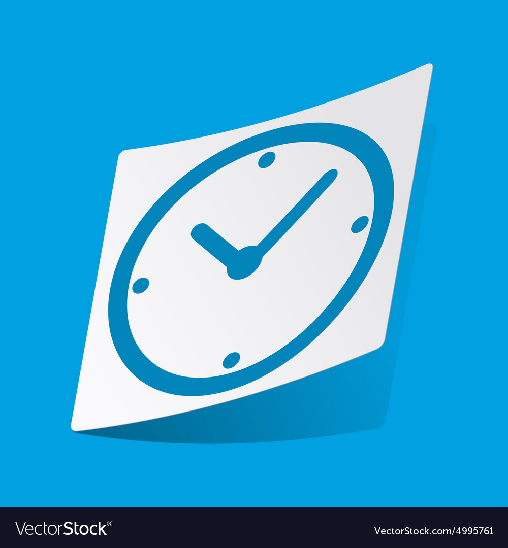 Clock sticker vector