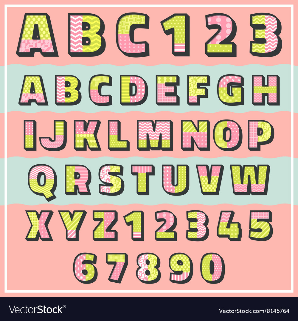 Abc pattern 2 tone vector