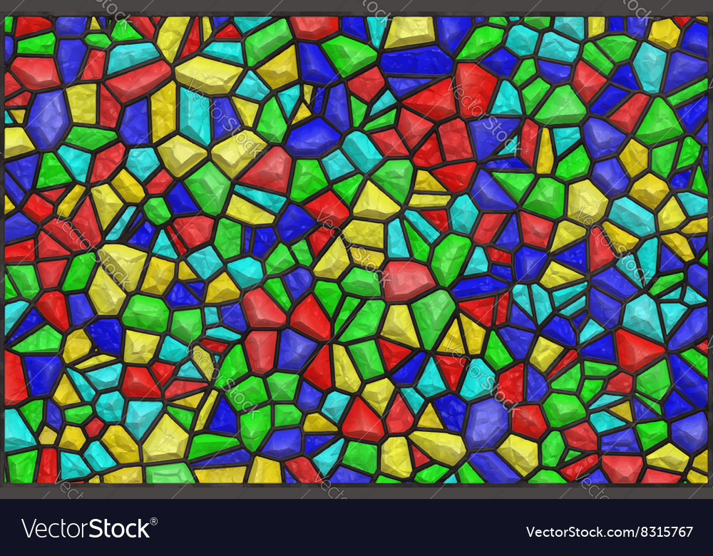 Colored glass vector