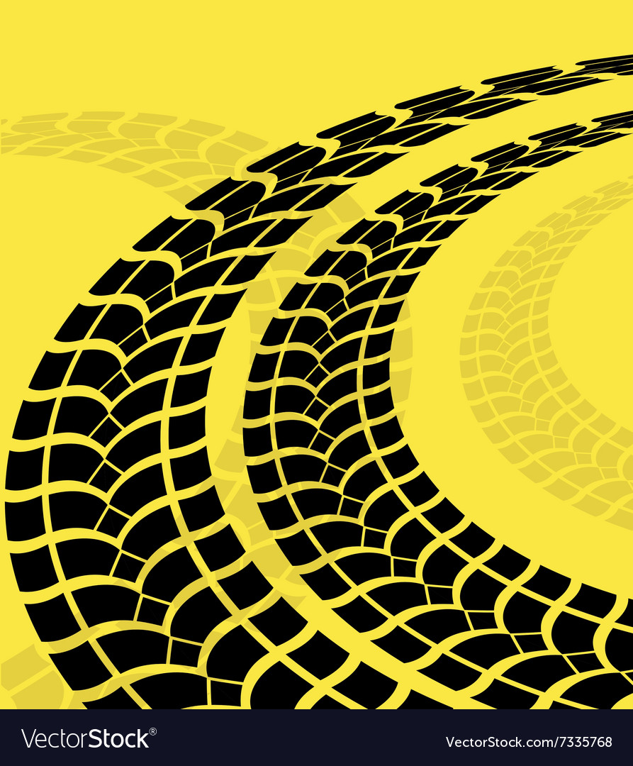 Tire track print vector