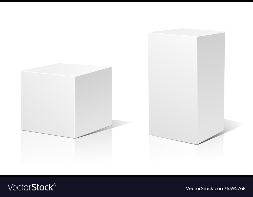White 3d box vector