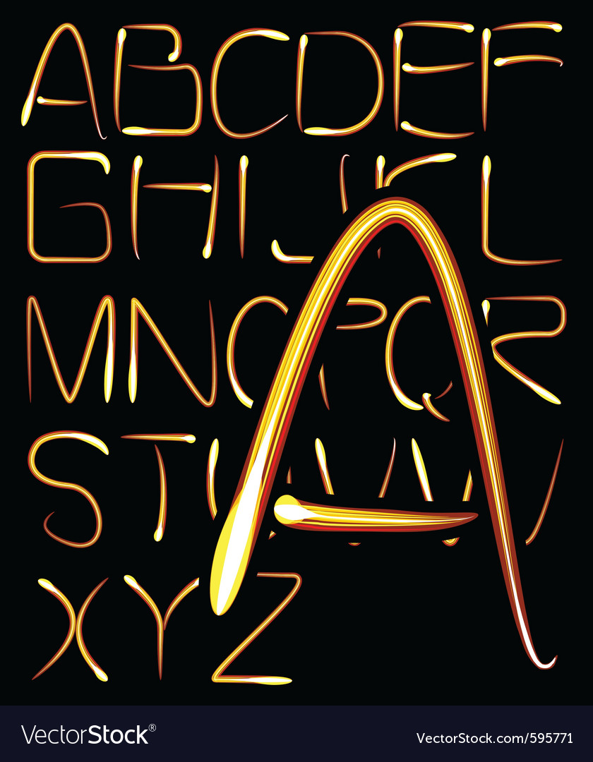 Light alphabet vector