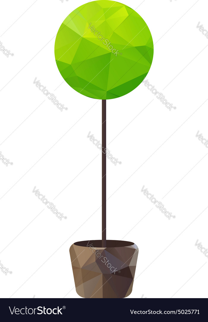 Triangle tree in pot vector