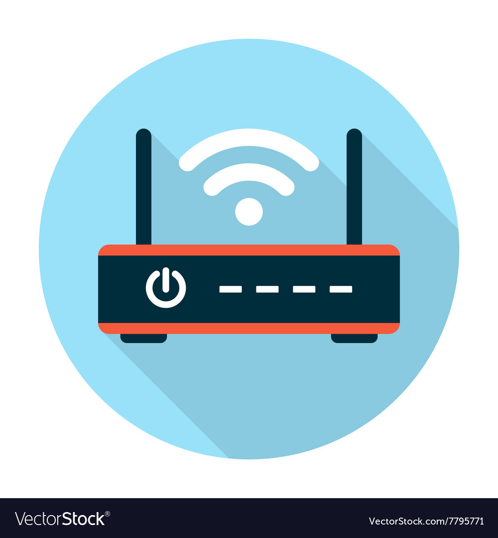 Wifi router icon flat vector