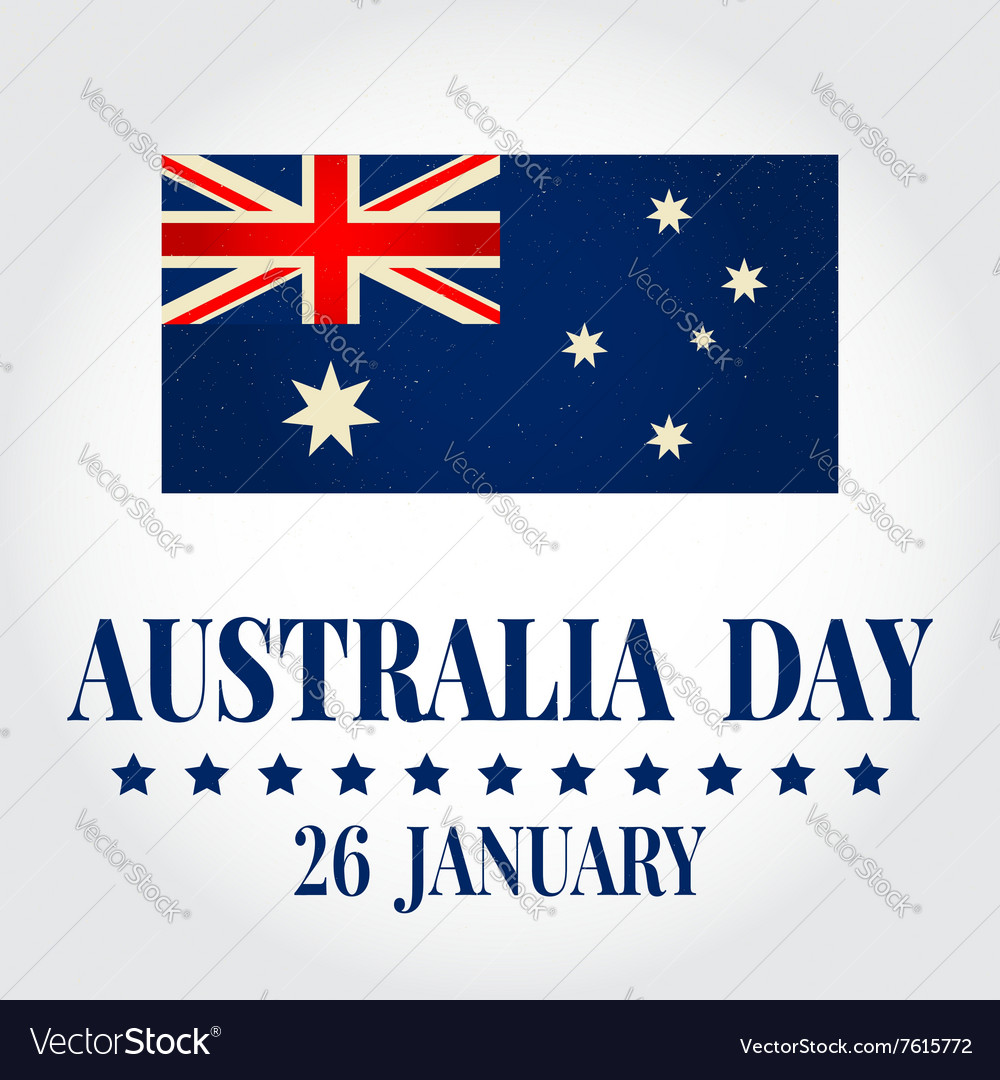 Greeting card happy australia day national celebra vector