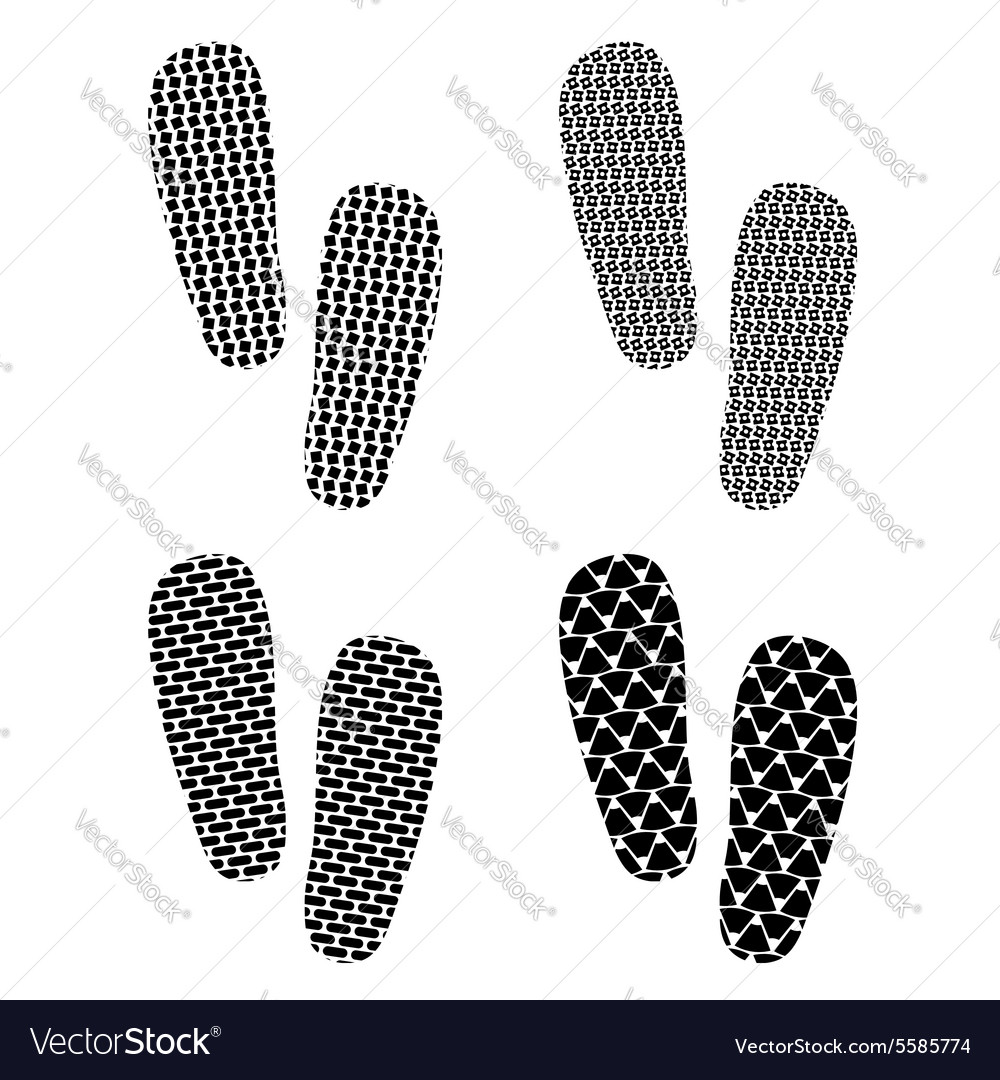 Set of imprints vector