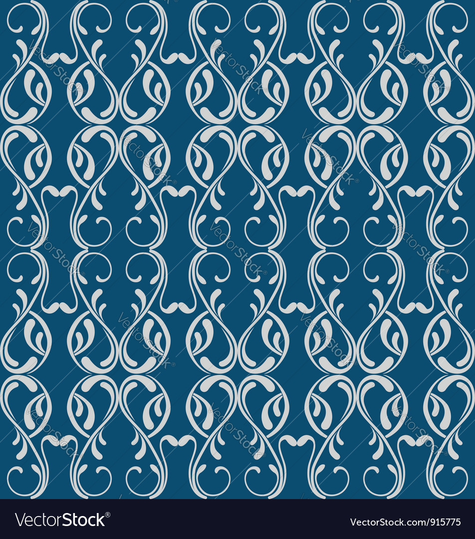 Blue victorian seamless vector