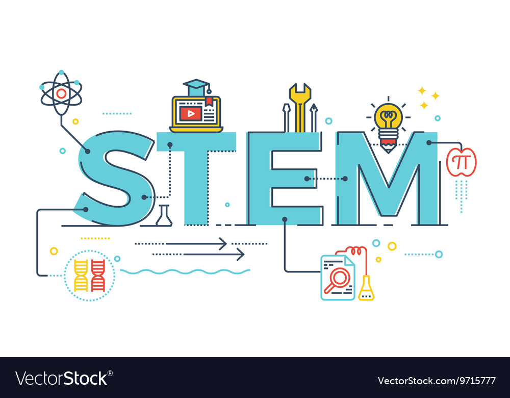 Stem  science technology engineering mathematics vector