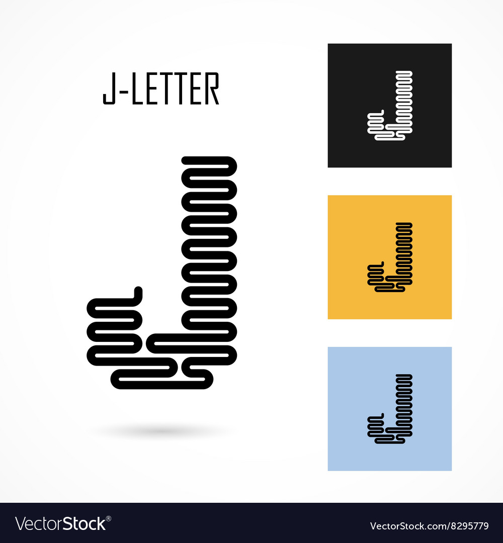 Creative j  letter icon abstract logo design vector