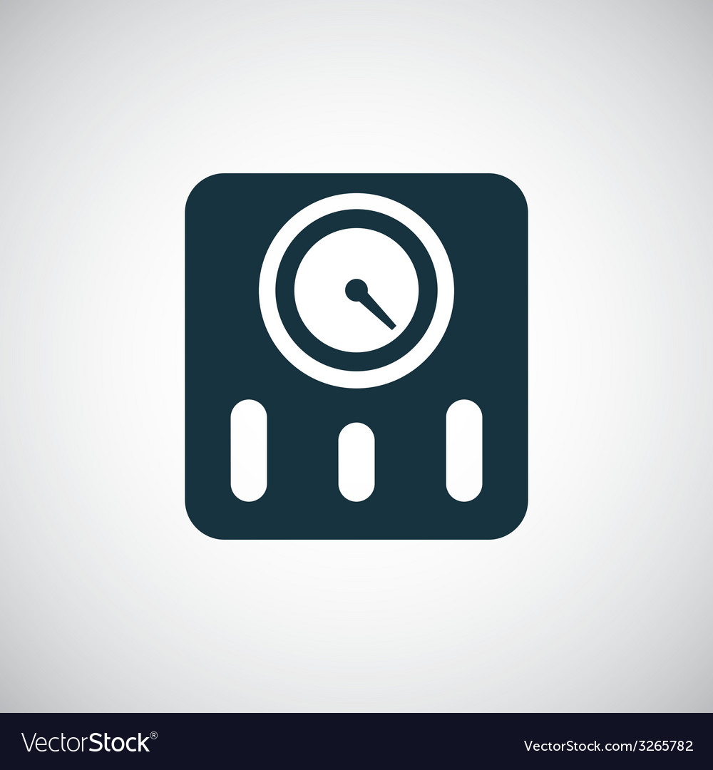 Fitness scales icon vector