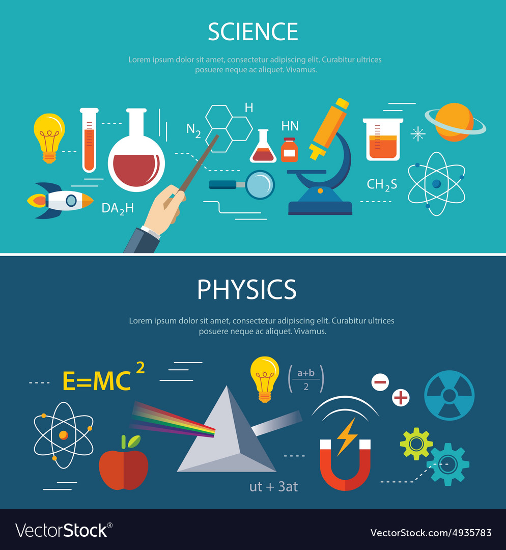 Science and physics education concept vector