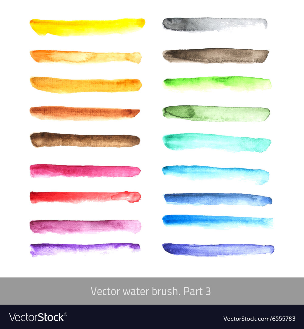 Watercolor set stroke vector