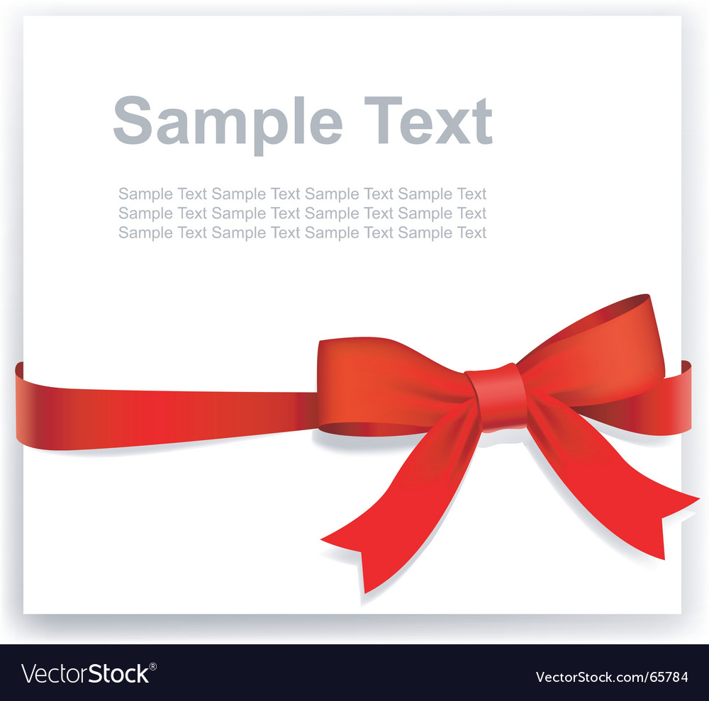 Tape and bow vector