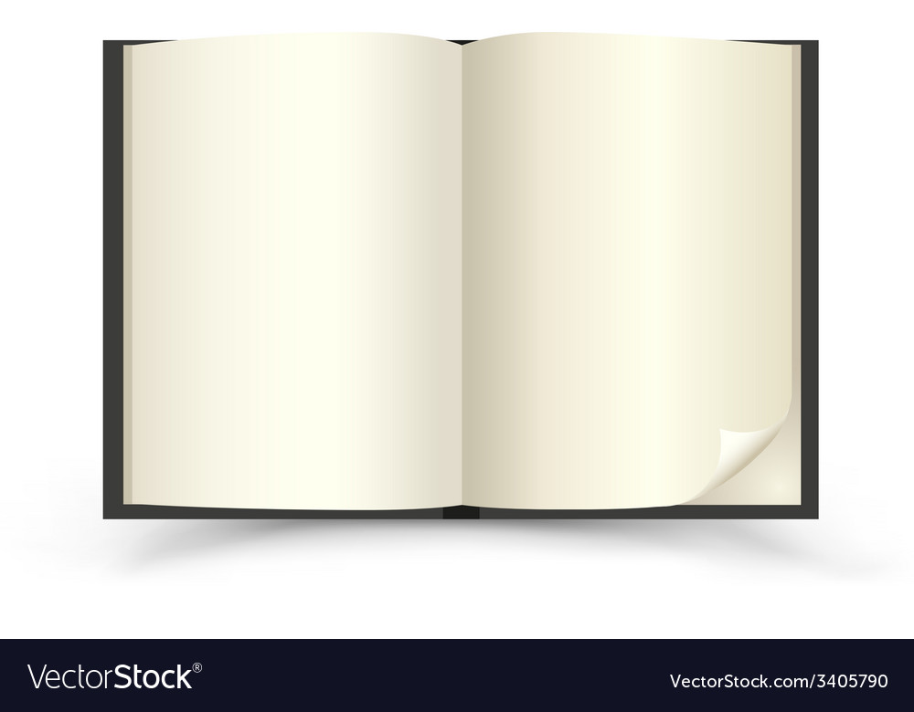 Open black book vector