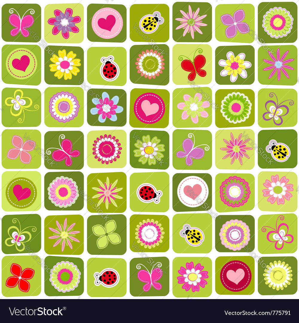 Abstract spring time vector