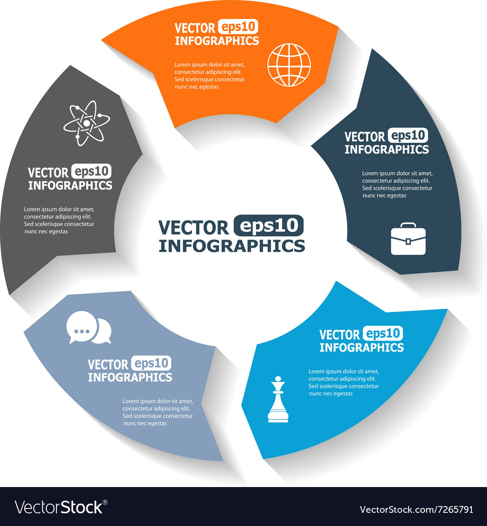 Modern circle infographics vector