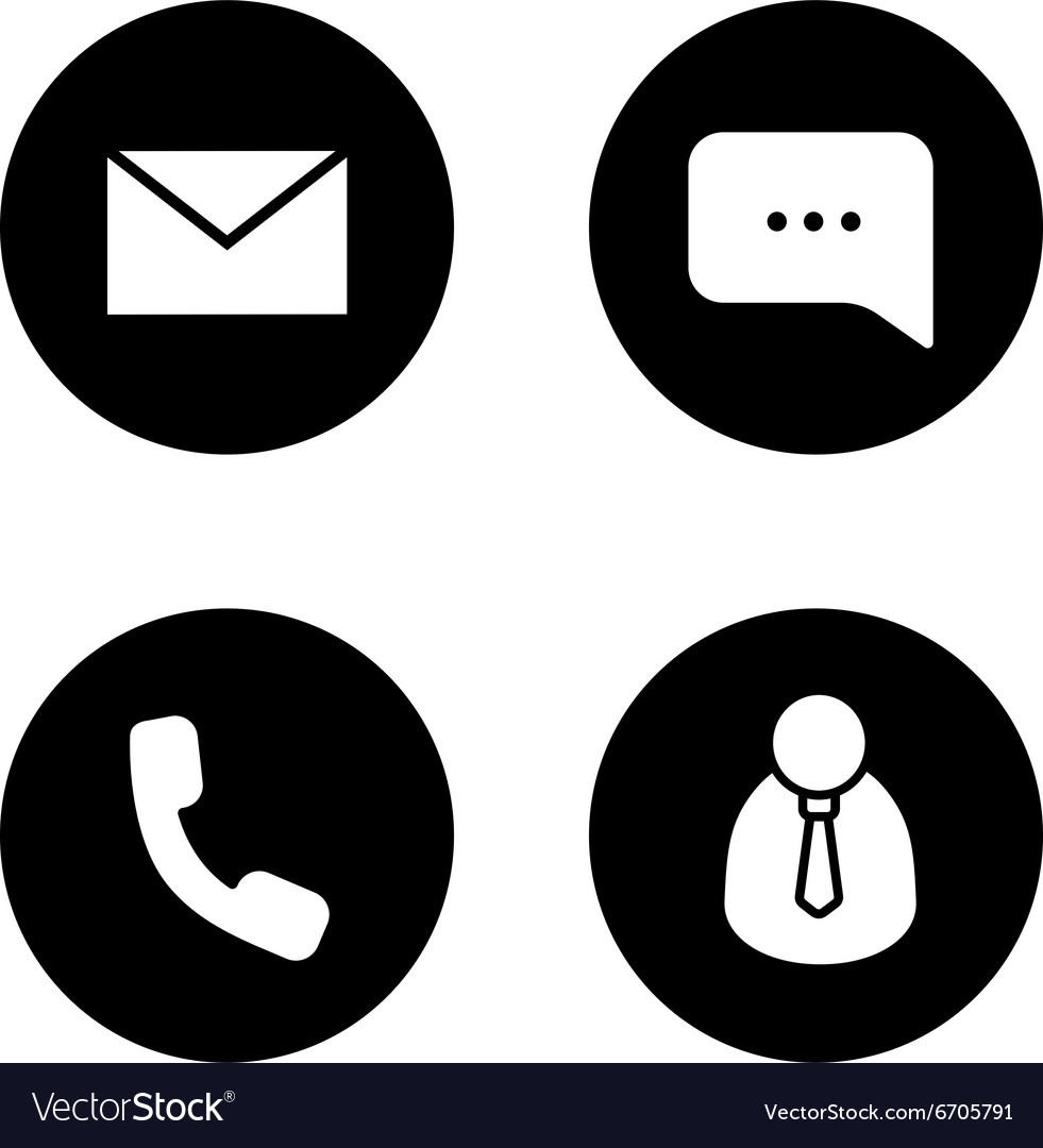 Tech support black icons set vector