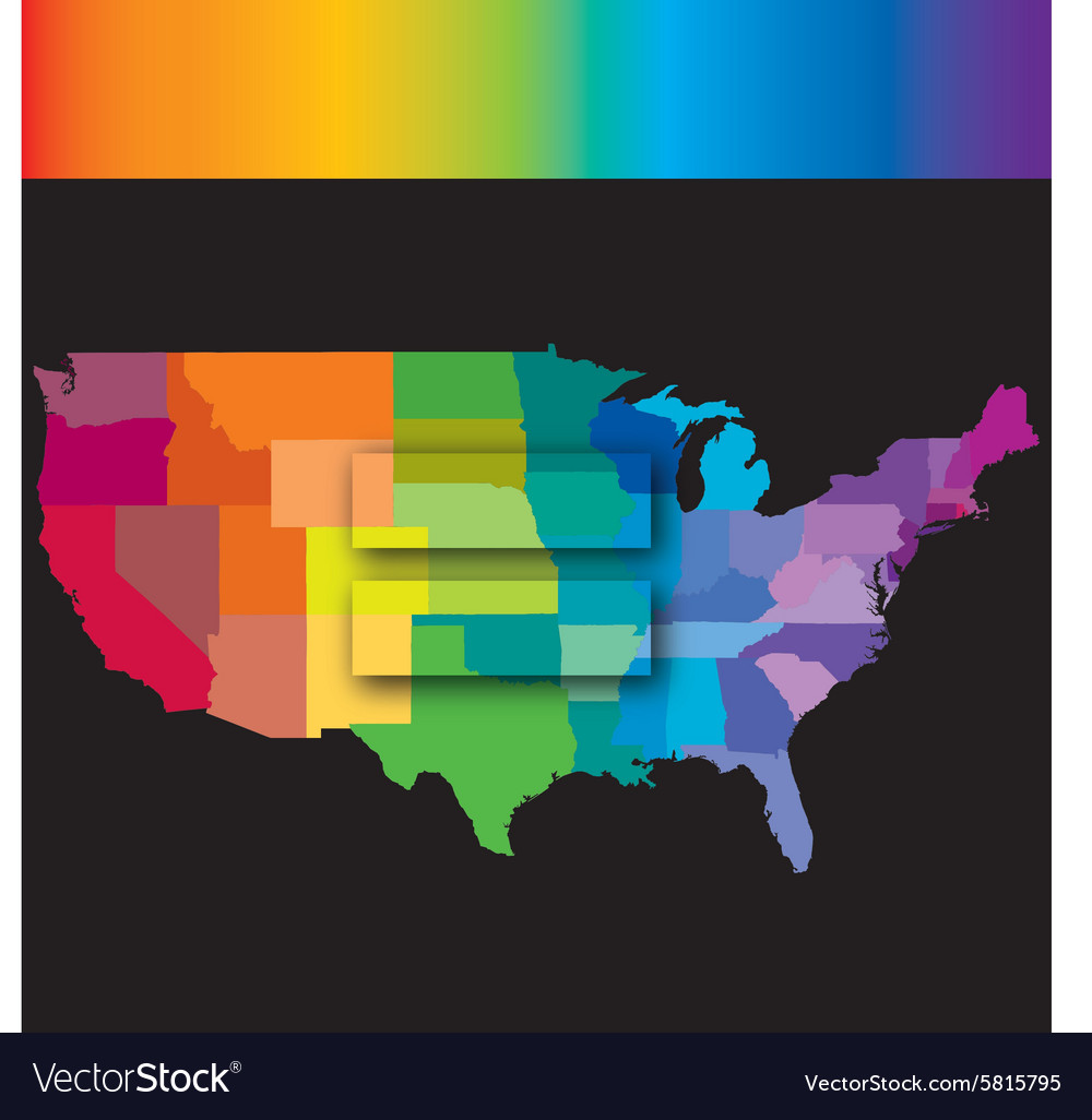 Equal usa rainbow vector