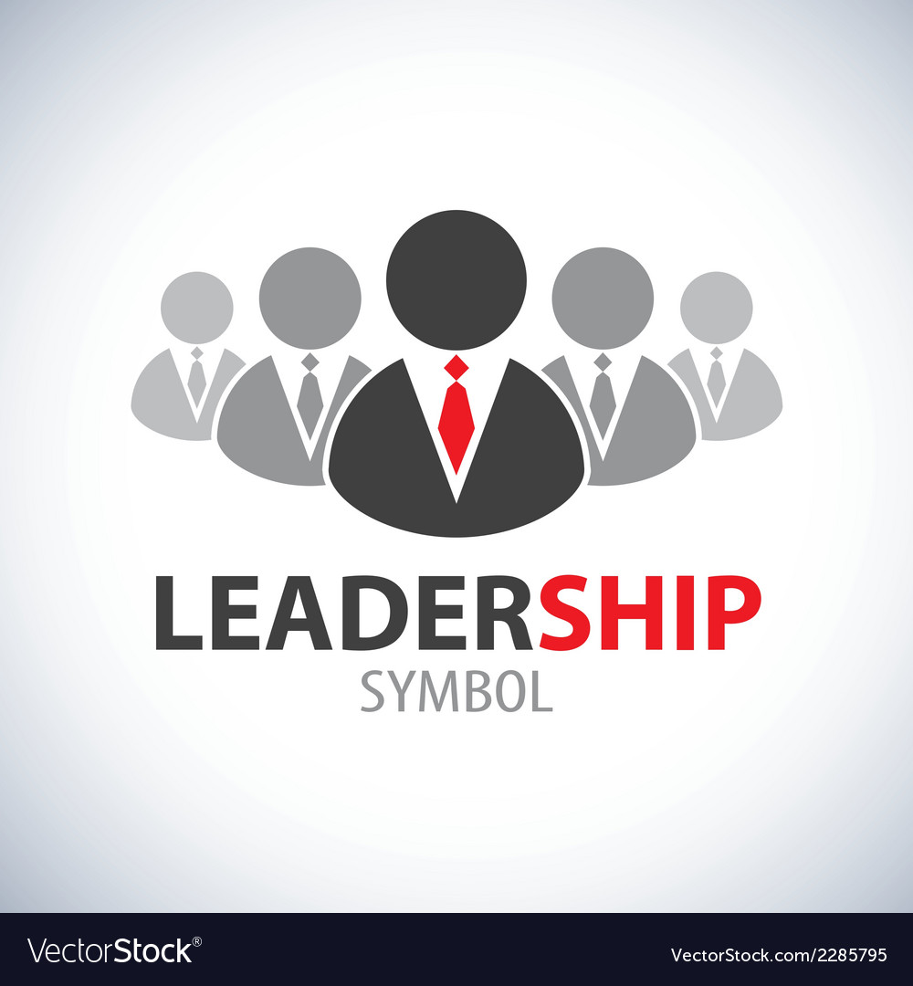 Leadership symbol icon vector
