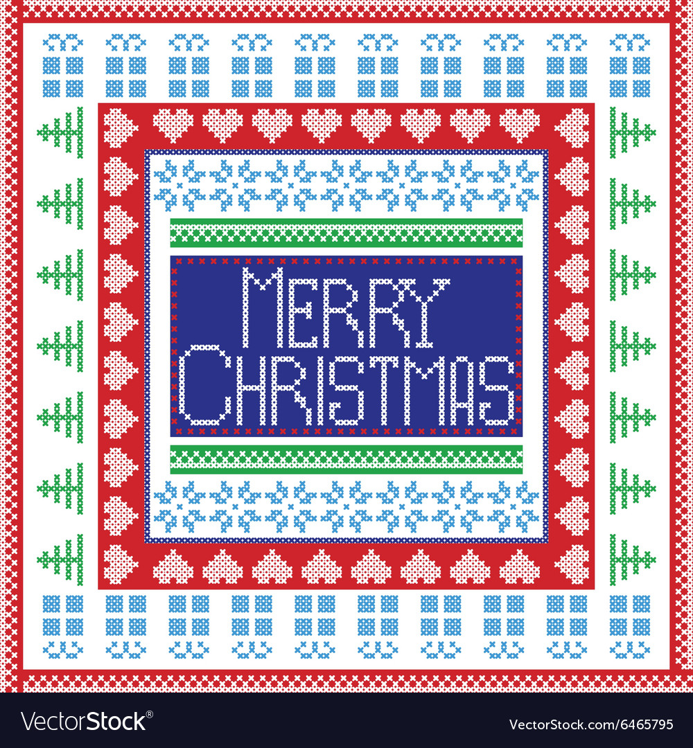 Merry christmas in tile vector